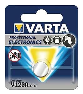 VARTA V12 GA / LR43 - Pack de 1 pila (óxido de plata, 1.55 V, 80 mAh)
