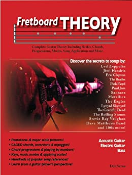 Fretboard Theory: Complete Guitar Theory Including Scales, Chords, Progressions, Modes, Song Application and More. by [Serna, Desi]