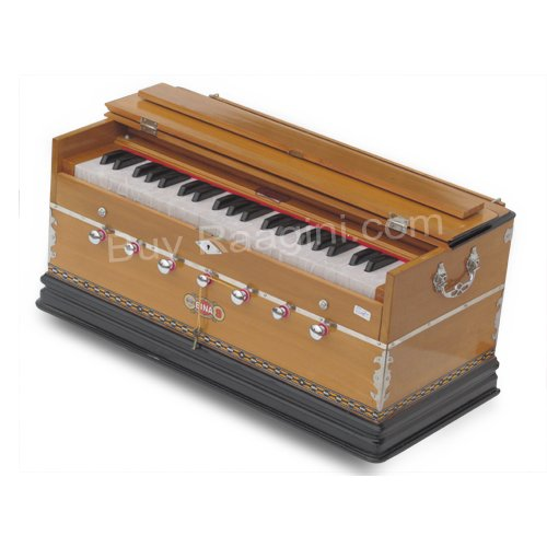 Harmonium, Musical Instrument, BINA No. 9A, In USA, 3 1/2 Octaves, 7 Stops, Standard, Tuned To A440, Natural Color, Coupler, Special Double Reeds, Bag, Book, (PDI-AGE) by Bina (Image #2)