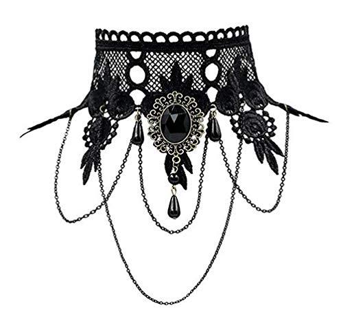 Lefinis Handmade Gothic Lolita Retro Lace Slave Bracelet