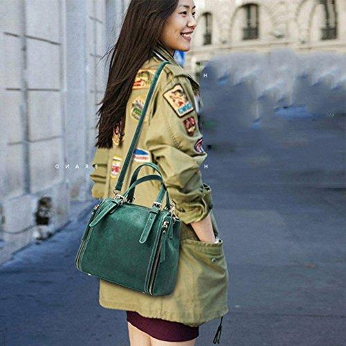 Viaggio Multifunzione Messenger Qiaoy Pelle Verde Tracolla In Jolly Borsa CXXSqPw