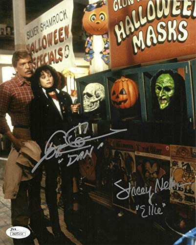 Tom Atkins & Stacey Nelkin signed 8x10 Photo Halloween 3 Seaso of the Witch JSA -