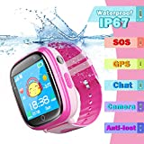 Kids Waterproof Smart watch, bhdlovely Smartwatch for 3 to 14 year old children Flashlight Camera Touch Screen Watch(Blue)