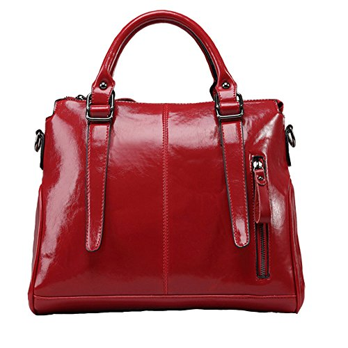 handle Top Tote Handbags Hobo Messenger Burgundy Women Vintage Shoulder Satchel FiveloveTwo Ladies Purse Bags IqYwW