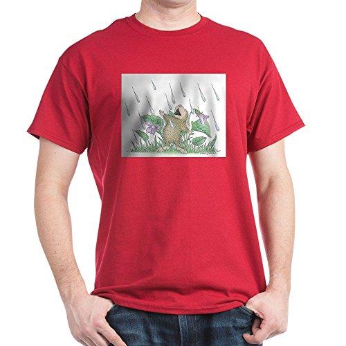 CafePress Singing in The Rain T-Shirt 100% Cotton T-Shirt Cardinal