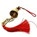 Buorsa Red Chinese Feng Shui Bell Good Luck Fortune Home Car Crafts Hanging Decoration Gift