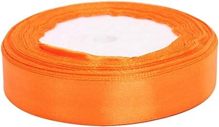 kentop cinta de raso seda bandas lazo regalo cinta seda satén boda banda decorativa, tela, naranja, 2 cm: Amazon.es: Hogar