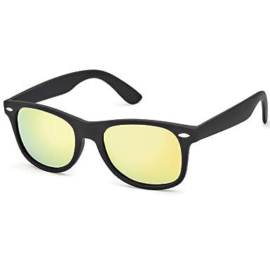 2fab387688e28 SODQW Classique Lunettes de Soleil Hommes Miroir Polarisées Rétro Style  Super Léger Cadre 100% UVA