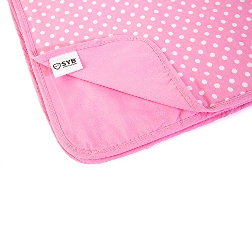 SYB Cotton Flannel Baby Blanket; EMF Anti-Radiation Protector for Your Baby (Pink) by SYB (Image #8)
