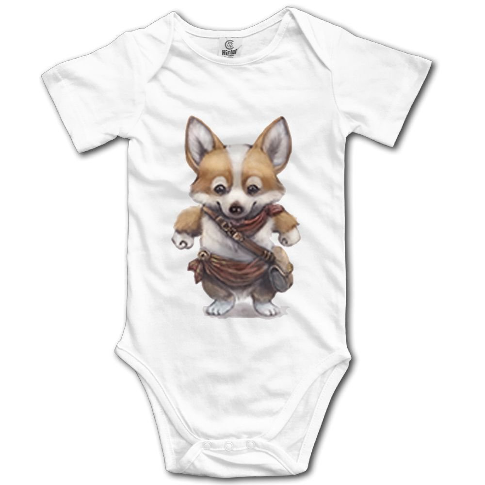 Rainbowhug Corgi Dog Unisex Baby Onesie Cartoon Newborn Clothes Unique Baby Outfits Soft Baby Clothes