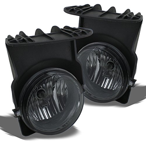 For GMC Sierra Pickup Truck Bumper Driving Smoked Fog Lights Driver/Passenger Lamps with Switch/Bulbs
