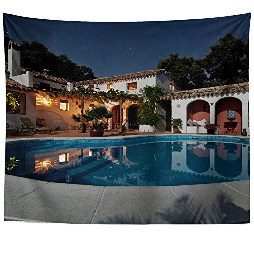 (Westlake Art - Wall Hanging Tapestry - House Pool - Photography Home Decor Living Room - 51x60in)