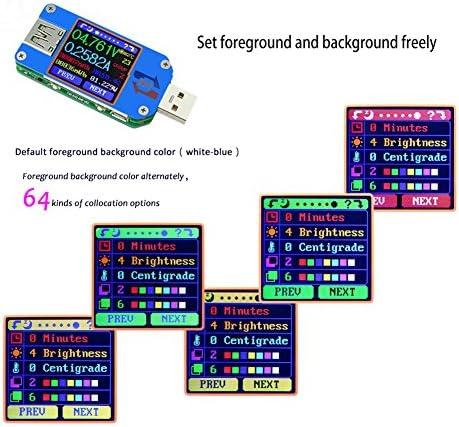 USB3.0 Color LCD Voltaje de la pantalla Potencia actual Medidor de carga de la bater/ía Medidor multifuncional USB