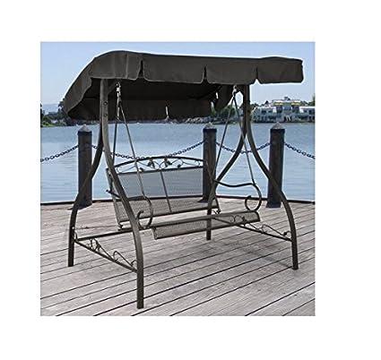 Amazon Com Jefferson Wrought Iron Outdoor Swing Seats 2 Garden