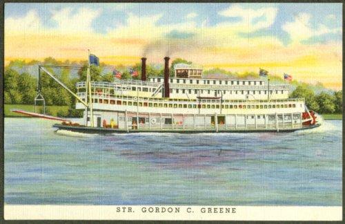 Steamer Gordon C Greene Cincinnati OH postcard - Oh The Greene