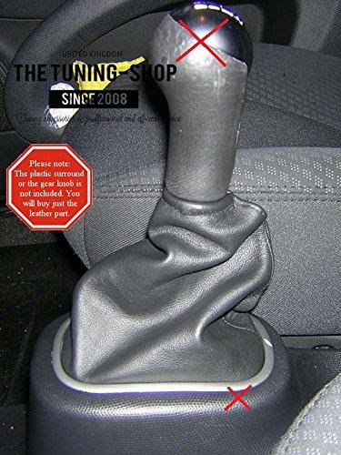 F/ür Nissan Micra K12/2006 2010/manuell Schaltsack schwarz Italienisches Leder