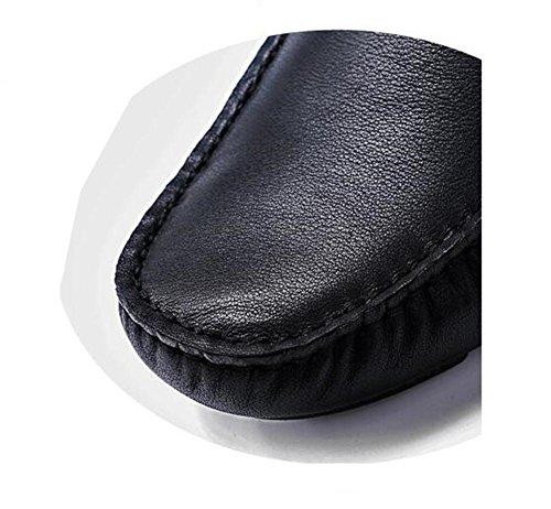 On 38 Casuales Slip Brown 44 Mocasines Genuino Conducción Eu42 Hombre Nanxie Negro Zapatos Talla A Elegantes Eu44 De Cuero qwx4W6Sv