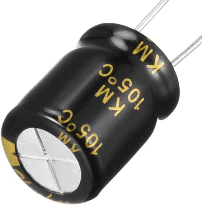 Sourcing Map alluminio radiale condensatore elettrolitico con 680UF 25/V 105/Celsius vita ore 10/x 13/mm nero 15PCS