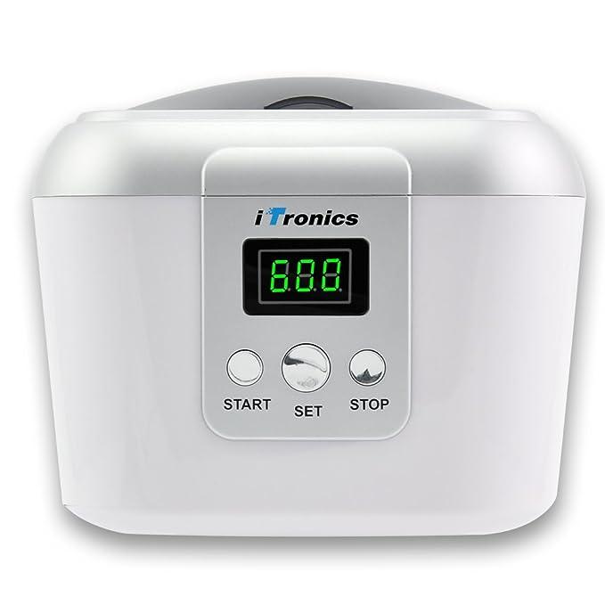 iTronics Limpiador ultrasónico Profesional para Limpiar Piezas Joyería Joya Gafas Monedas Dentaduras Reloj Postizas Disc (CD, DVD, VCD) Plaquetas Nasales y ...