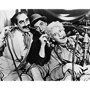 "Marx Brothers Portrait With Three Man Sucking Up Something - 10"" X 8"" Pop Culture Art Photographic Full Bleed Print - Premium Paper"