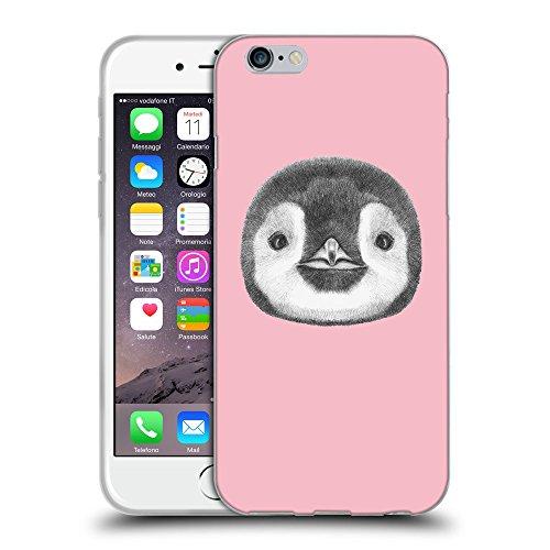 "GoGoMobile Coque de Protection TPU Silicone Case pour // Q05310630 Visage pingouin Rose // Apple iPhone 6 4.7"""