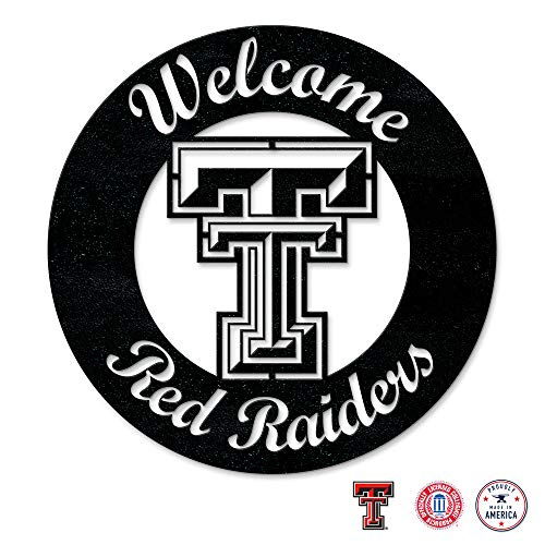 (Gameday Ironworks Texas Tech Red Raiders Steel Wall Sign)