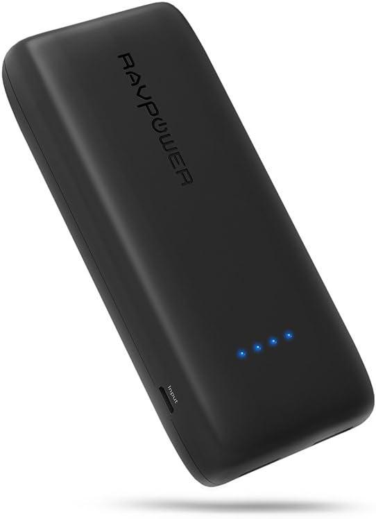 Power Bank RAVPower 12000 mAh Cargador de teléfono 12000 Power Pack Cargador portátil Dual 2,4 A salida batería Pack móvil (2 A entrada, Polímero de litio, iSmart – 2.0 puerto) para iphone 7 Tablet- [Upgraded]: Amazon.es: Electrónica