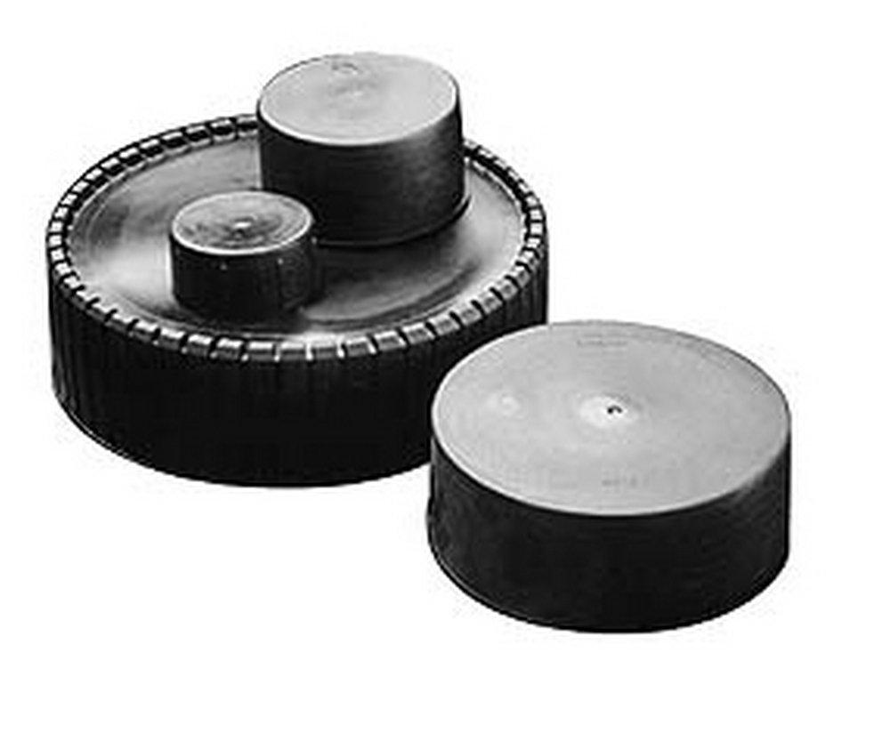 3 NPT ID Quick-Lock Cap, Polyethylene, Black 50 Pack