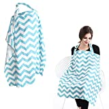 Accmor Unisex Baby Nursing Cover Hooter Hider, Multi-use Breastfeeding Cover with Storage Pockets, Breathable Cotton Breast Feeding Nursing Apron for Mother