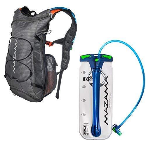 Hydration Reservoir Pack - 2 or 3 Liter Water Bladder - Tasteless & BPA Free - Multifunction Kit - USA Made Film - Mazama - Tumalo (Grey 2 L)