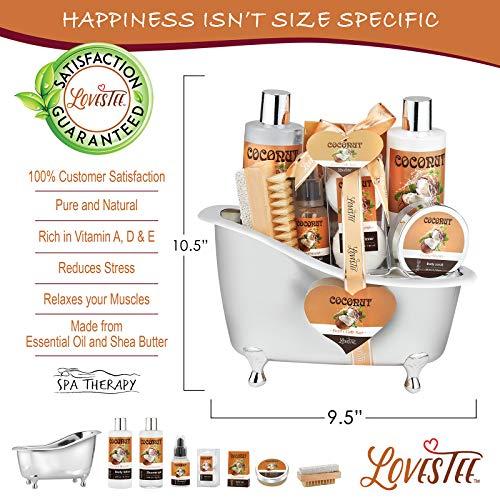 Spa Gift Basket-Bath and Body Gift Set,Coconut For Women-Spa Bath Kit & Bath Gift Basket Birthday Gift Includes Bath… 6