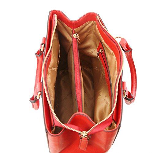 Tuscany Leather TL Bag Borsa a mano in pelle Saffiano Rosso Lipstick Rosso Lipstick Genuina Barata xMT9MLB