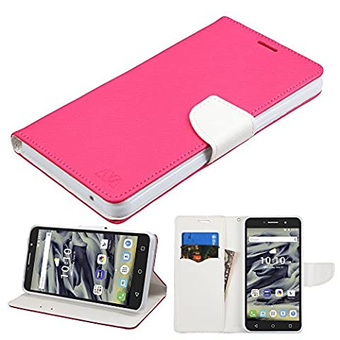Asmyna Cell Phone Case for Alcatel Pixy 4 - Hot Pink Pattern/White Liner (Phone Pixys)