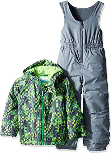 Columbia Little Boys' Toddler Frosty Slope Set, Green Mamba Block Print, 2T by Columbia