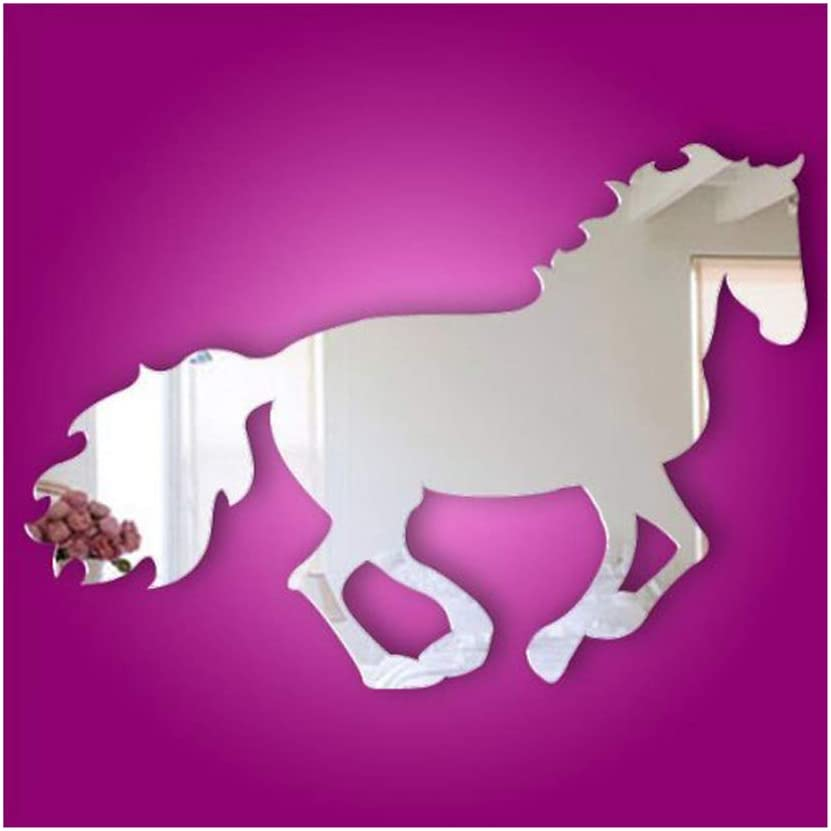 Alrens(TM) Horse Pattern Modern Creative Design Wall Decals DIY 3D Acrylic Mirror Surface Wall Sticker Living Room Children Room Bedroom adesivo de Parede Home Decoration Mural Decor