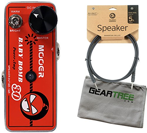 Mooer Baby Bomb 30 Digital Micro Power AMP w/ Speaker Cable and Geartree Cloth by Mooer