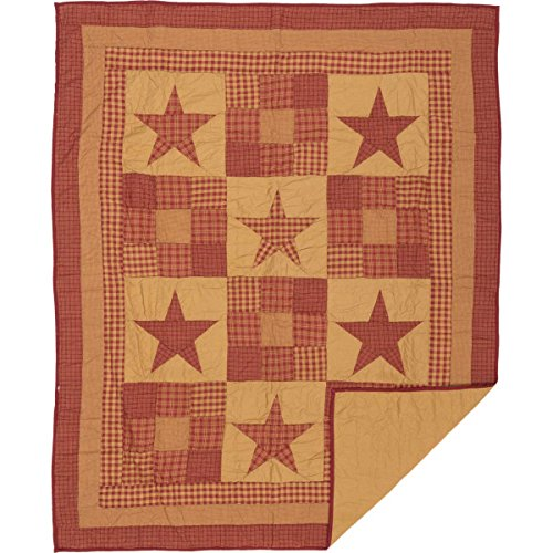 VHC Brands Ninepatch Star Quilted Throw ()