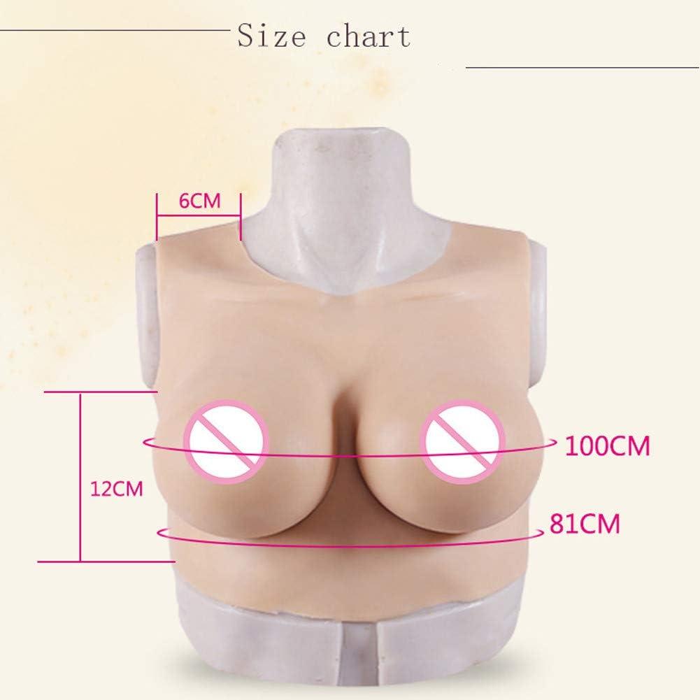 YQYAH DWT Boob-Brust D-Cup-Rundhalsausschnitt Silikon Br/üste f/ür Transsexuelle Sissy Cosplay Mastektomie Cosplay Transgender,Ivorywhite,Silicone
