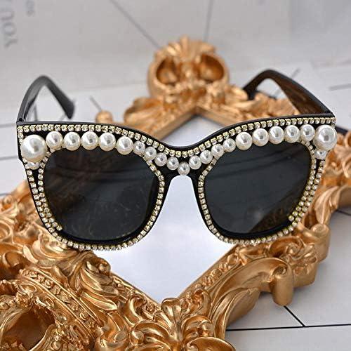 Occhiali da sole da donna di tendenza occhiali da sole estivi occhiali da sole da spiaggia occhiali da sole perle all'aperto occhiali da sole