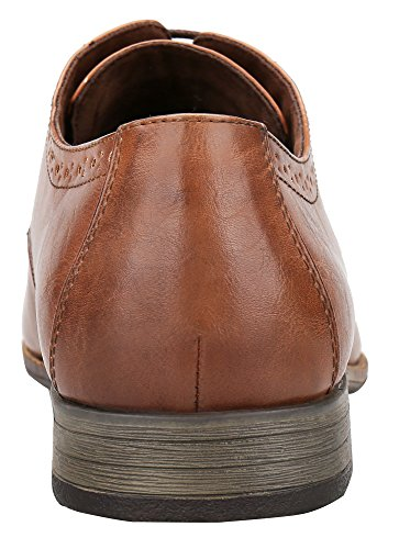 Shenbo Simple Classic Men Oxford Shoes Brown (1)