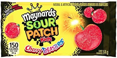 Maynards Gummy Candy Sour Cherry Blasters 64 Grams 2 3 Ounces 18 Pack Amazon Ca Grocery
