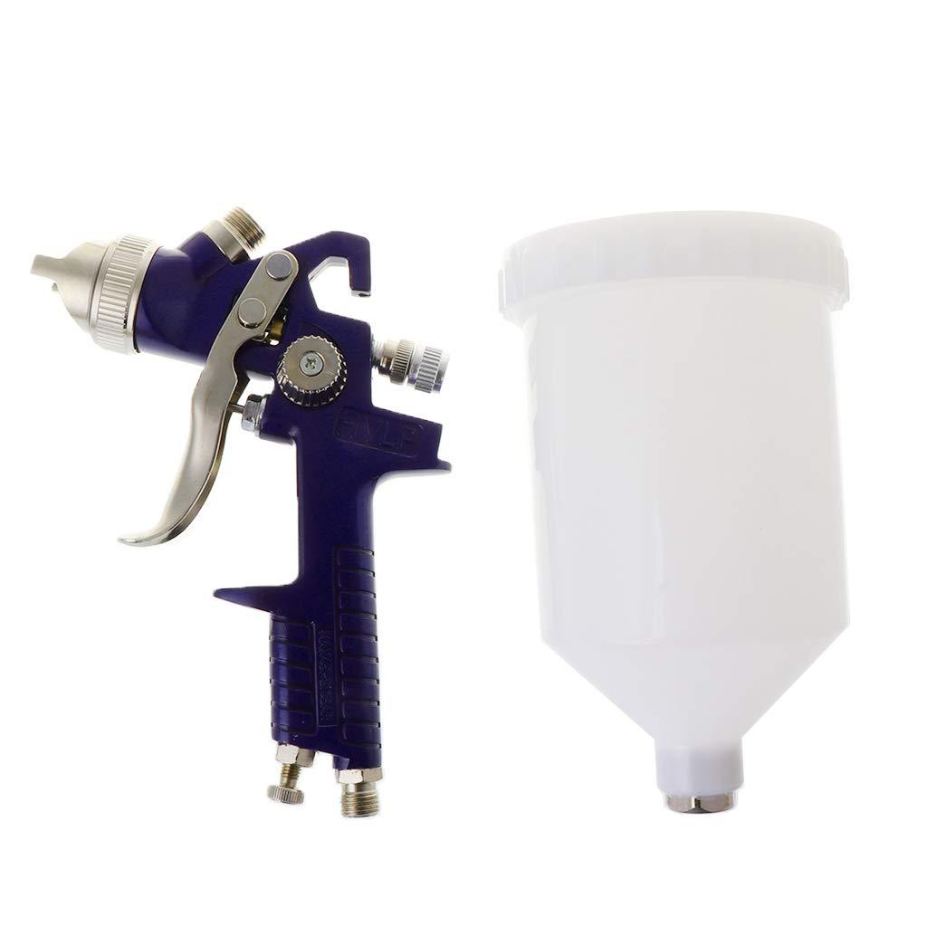 Pistola pulverizadora de aire profesional H827P de 600 ml con 3 boquillas de alimentaci/ón por gravedad HVLP con herramientas de construcci/ón de muebles de coche de 1,4 mm 1,7 mm 2 mm