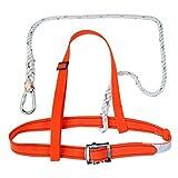 MagiDeal Orange Scaffold Harness Kit Fall Arrest Protection Lanyard Climbing Gear