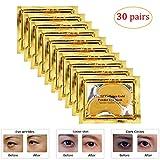 Joynest 30 Pairs Crystal Eye Mask Under Eye Mask 24K Gold Gel Collagen Eye Pad for Moisturizing & Reducing Dark Circles...