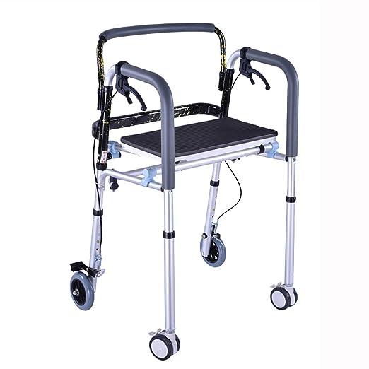 CCJW Andador para discapacitados Andar para Caminar Silla de caña ...
