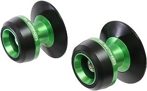 Twall Green 8MM CNC Swingarm Spools For Kawasaki NINJA 650 R ABS 2017-2018 2019