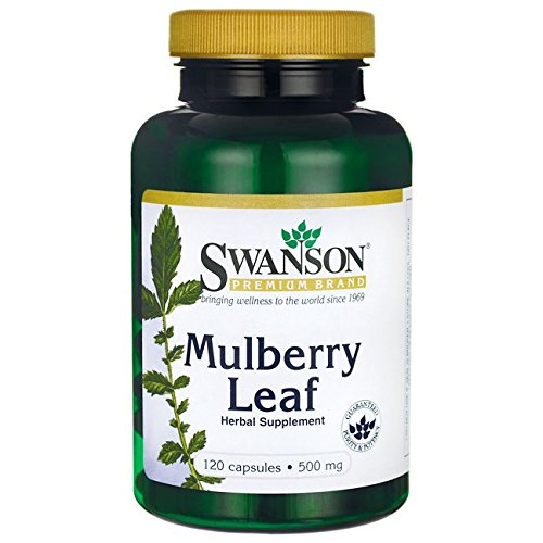 Swanson Mulberry Leaf Cardiovascular Antioxidant Blood Sugar Support Herbal Supplement 500 mg 120 Capsules (Caps)