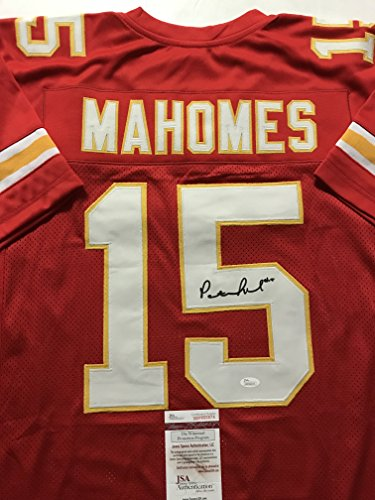 Autographed Signed Patrick Mahomes Kansas City Chiefs Red Football Jersey  JSA COA 1a80d3bfb