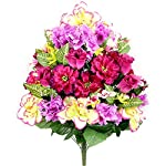 Admired-By-Nature-Artificial-Hibiscus-with-Rosebud-Freesias-Fillers-Flower-Mixed-Bush-36-Stems-for-Mothers-Day-or-Decoration-for-Home-Restaurant-Office-Wedding-Magenta-Mix