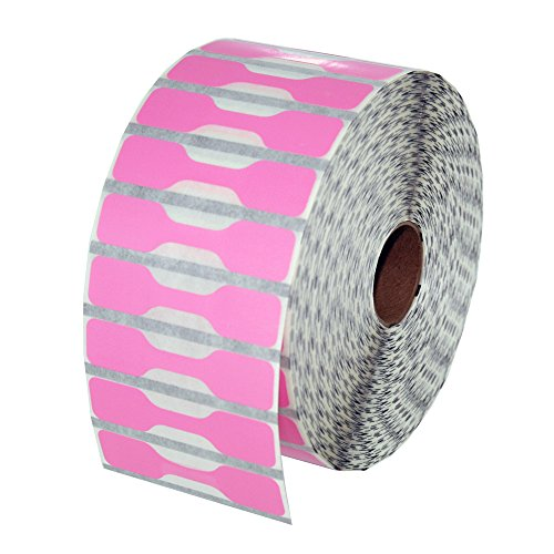 Zebra Printer Compatible 10010064 Pink Jewelry Labels - Barbell Style - 3510 Lables Per Roll